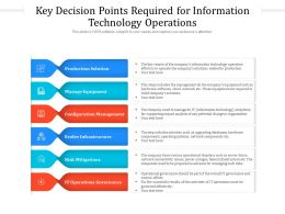 Key Decision Points Required For Information Technology Operations
