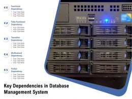 Key Dependencies In Database Management System