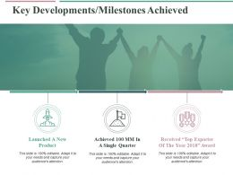 Key Developments Milestones Achieved Ppt Professional Graphics Pictures