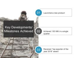 Key Developments Milestones Achieved Ppt Slide