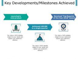 Key Developments Milestones Achieved Presentation Examples