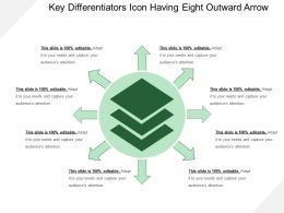 Key Differentiators Icon Having Eight Outward Arrow