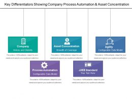 Key Differentiators Showing Company Process Automation And Asset Concentration