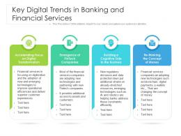 Key Digital Trends In Banking And Financial Services