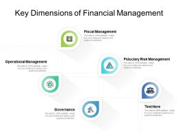 Key Dimensions Of Financial Management