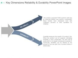 Key Dimensions Reliability And Durability Powerpoint Images
