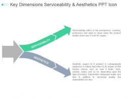Key Dimensions Serviceability And Aesthetics Ppt Icon
