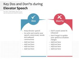 Key Dos And Don Ts During Elevator Speech
