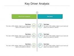Key Driver Analysis Ppt Powerpoint Presentation File Demonstration Cpb