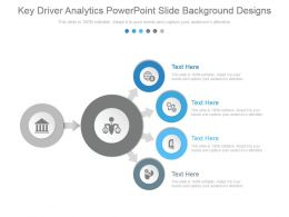 Key Driver Analytics Powerpoint Slide Background Designs