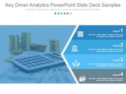 Key Driver Analytics Powerpoint Slide Deck Samples
