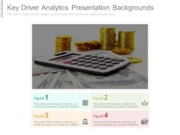 Key Driver Analytics Presentation Backgrounds