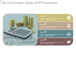 Key Driver Analytics Sample Of Ppt Presentation