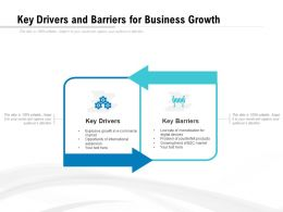 Key Drivers And Barriers For Business Growth