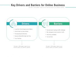 Key Drivers And Barriers For Online Business