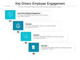 Key Drivers Employee Engagement Ppt Powerpoint Presentation Model Picture Cpb