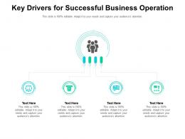 Key Drivers For Successful Business Operation Infographic Template