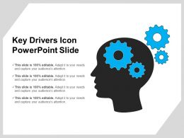 Key Drivers Icon Powerpoint Slide