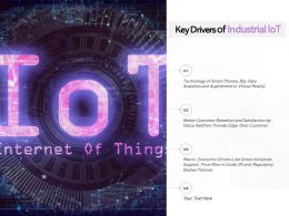 Key Drivers Of Industrial Iot