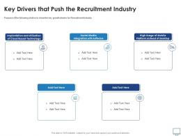Key Drivers That Push The Recruitment Industry Recruitment Industry Investor Funding Elevator Ppt Ideas