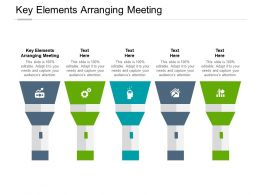 Key Elements Arranging Meeting Ppt Powerpoint Presentation File Maker Cpb