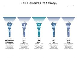 Key Elements Exit Strategy Ppt Powerpoint Presentation File Good Cpb