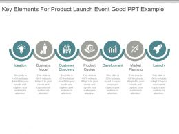 Key Elements For Product Launch Event Good Ppt Example