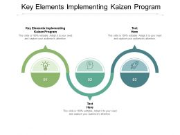 Key Elements Implementing Kaizen Program Ppt Powerpoint Presentation Icon Cpb