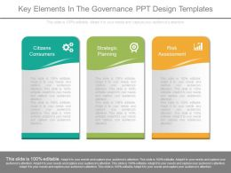 Key Elements In The Governance Ppt Design Templates
