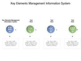 Key Elements Management Information System Ppt Powerpoint Presentation Cpb
