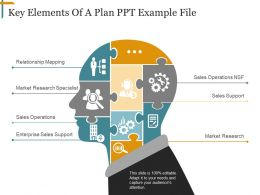 Key Elements Of A Plan Ppt Example File