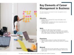 Key Elements Of Career Management In Business