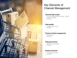Key Elements Of Channel Management