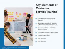 Key Elements Of Customer Service Training