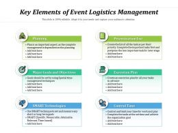 Key Elements Of Event Logistics Management