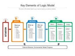 Key Elements Of Logic Model
