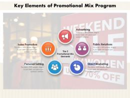 Key Elements Of Promotional Mix Program