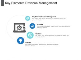 Key Elements Revenue Management Ppt Powerpoint Presentation Gallery Designs Cpb