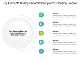 Key Elements Strategic Information Systems Planning Process Ppt Powerpoint Icon Cpb