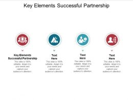 Key Elements Successful Partnership Ppt Powerpoint Presentation Icon Cpb
