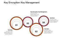 Key Encryption Key Management Ppt Powerpoint Presentation Show Themes Cpb
