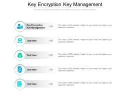 Key Encryption Key Management Ppt Powerpoint Presentation Summary Samples Cpb