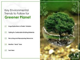 Key Environmental Trends To Follow For Greener Planet