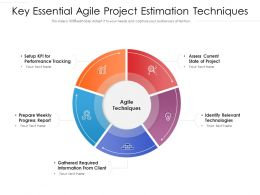 Key Essential Agile Project Estimation Techniques