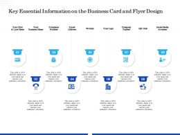Key Essential Information On The Business Card And Flyer Design Ppt File Aids