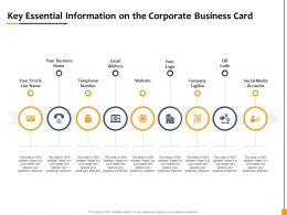 Key Essential Information On The Corporate Business Card Ppt File Design