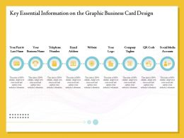 Key Essential Information On The Graphic Business Card Design Ppt File Format Ideas