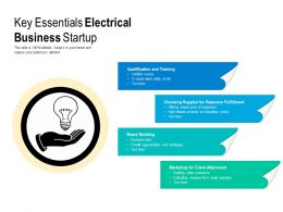 Key Essentials Electrical Business StartUp