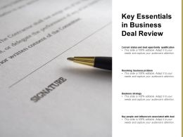 Key Essentials In Business Deal Review