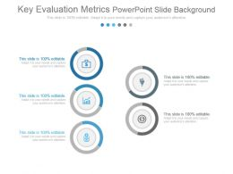 Key Evaluation Metrics Powerpoint Slide Background